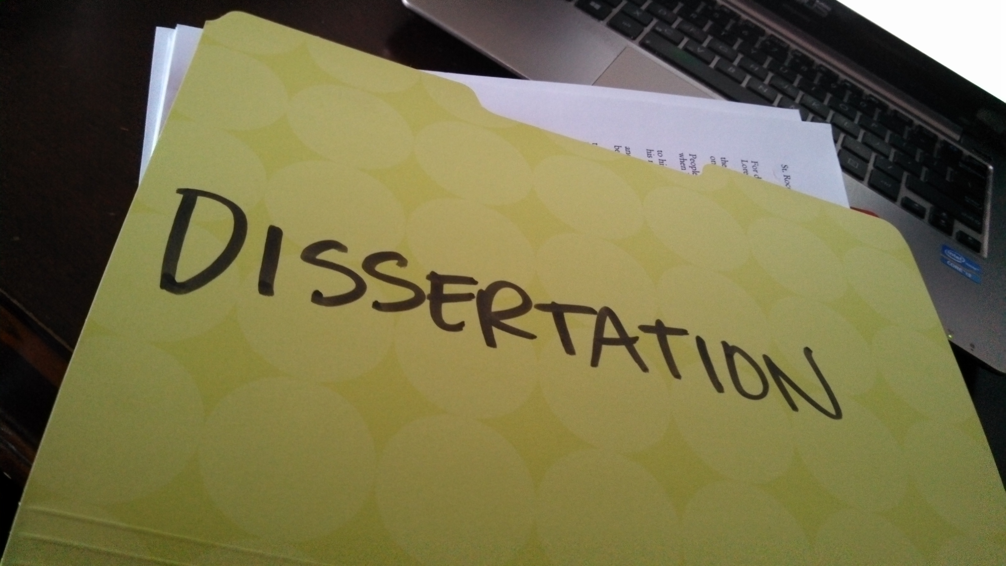 writing dissertation