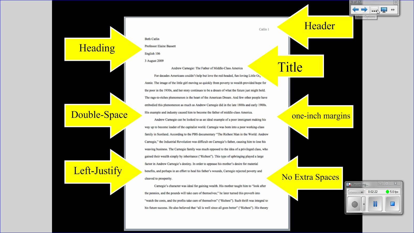 standard essay margin size remove hyperlink menu item academic tips